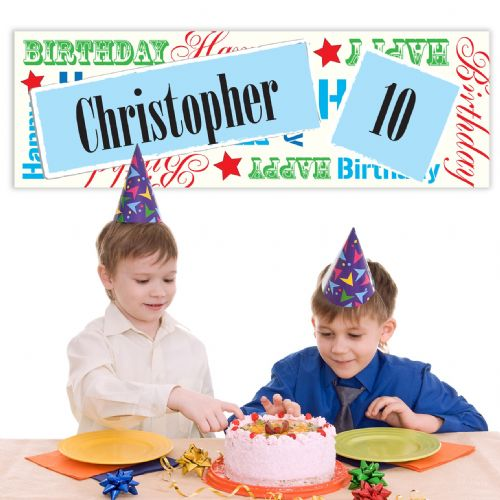 Personalised Male Birthday Age Banner